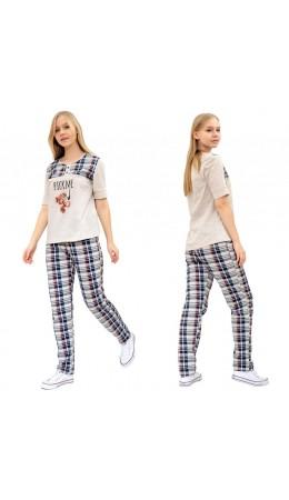 пижама к/р-брюки жен.