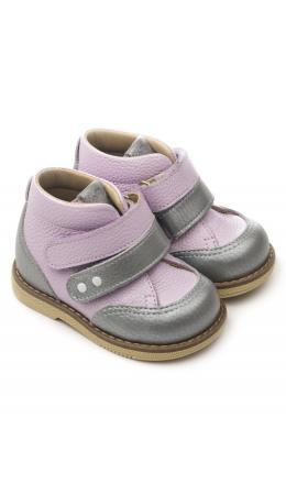 Ботинки детские 24018 кожа, СИРЕНЬ сиреневый