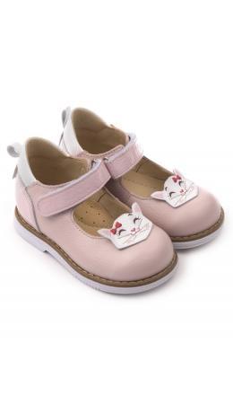 Туфли детские 25010, кожа, КОШКА розовый