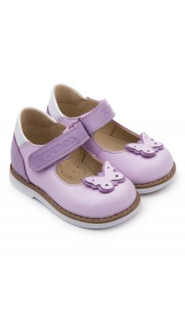 Туфли детские 25010, кожа, СИРЕНЬ сиреневый