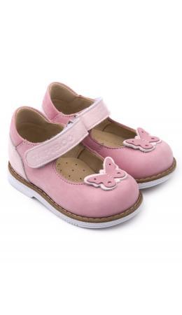 Туфли детские 25010, кожа, ЛИЛИЯ розовый