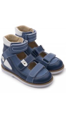 Туфли детские свод 25011, кожа ВАСИЛЁК синий