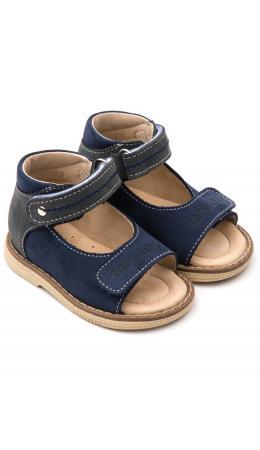 Сандалии детские 26011 кожа, ИРИС синий