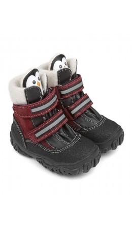 Ботинки детские 23011 кожа, МОСКВА бордо