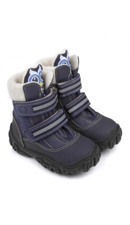 Ботинки детские 23011 кожа, НЬЮ-ЙОРК синий