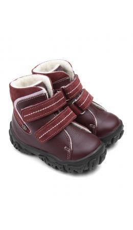 Ботинки детские 23026 кожа, МОСКВА бордо