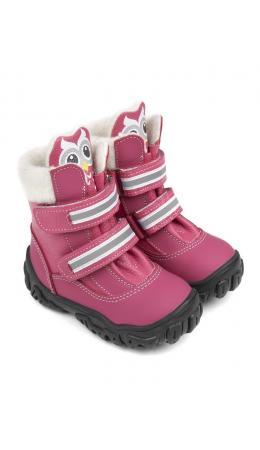 Ботинки детские 23011 кожа, БОМБЕЙ малиновый