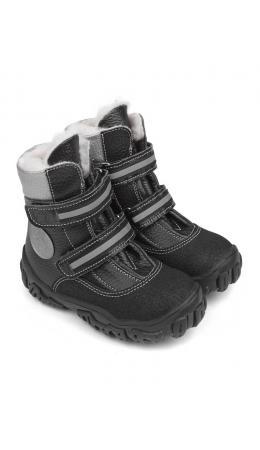 Ботинки детск.шерсть 23020 кожа, МИЛАН черный