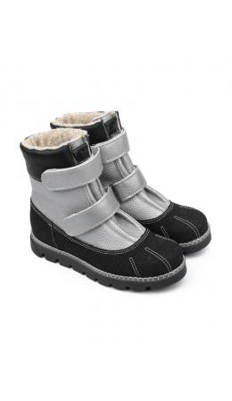 Ботинки детские 23010 кожа, ЛОНДОН серебристый