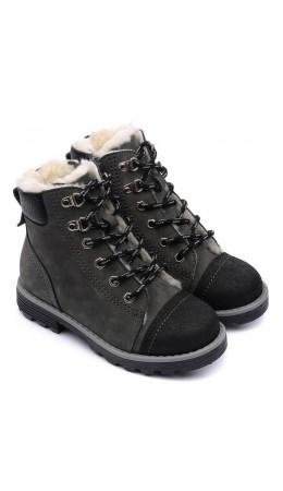 Ботинки детские 23024 БЕРЛИН кожа, серый,
