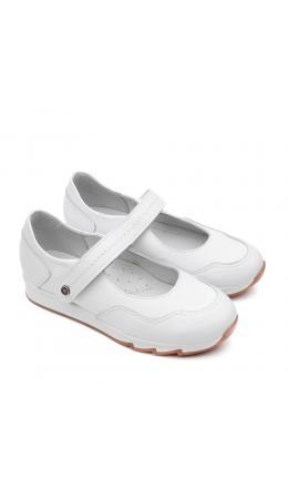 Туфли детские 25016 кожа, ЛАНДЫШ белый