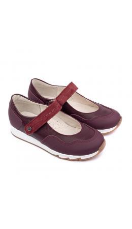 Туфли детские 25016 кожа, МАК бордо