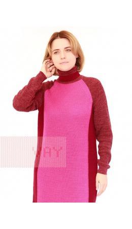 Платье женское 212-2465; 036/18-2328/435 марсала/деликатная фуксия/винная груша