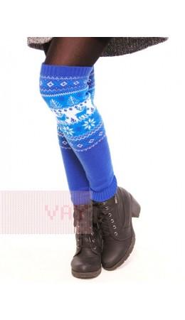 Гетры женские 202-8189; 037/10054/29/04 ниагара/optik/ярко-голубой