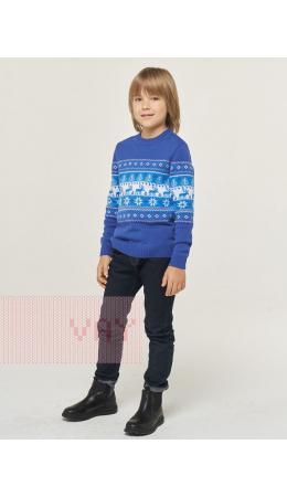 Джемпер детский 202-10080; 037/10054/29/04 ниагара/белый/ярко-голубой
