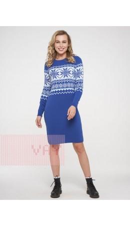 Платье женское 202-2398; 037/10054/14-4317 ниагара/белый/холодный голубой