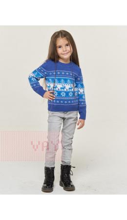 Джемпер детский 202-6206; 037/293/29/04 ниагара/optik/ярко-голубой