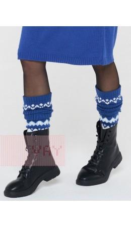 Гетры женские 202-8193; 037/10054/14-4317 ниагара/белый/холодный голубой