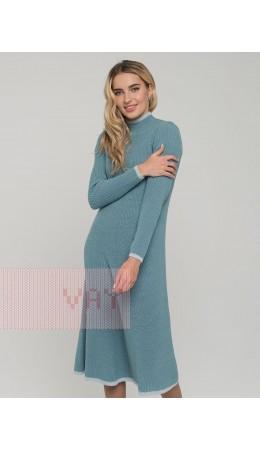 Платье женское 212-2460; 14041/321 грозовое небо/осеннее небо/метонить сильвер