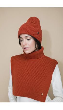 ЕВ 28000/ш/терракот шарф-манишка