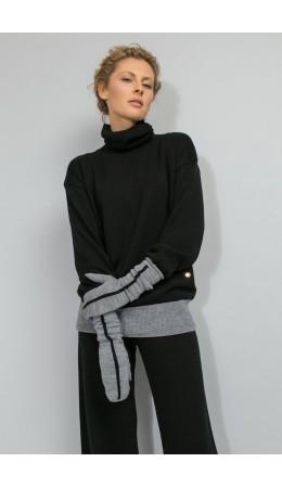 ЕВ 10000/ш/серый меланж варежки