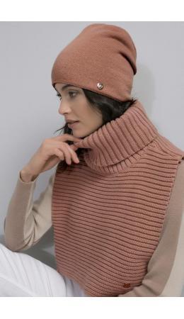 ЕВ 28001/ш/персик шарф-манишка