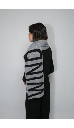 ЕВ 15001/ш/серый меланж,тем.серый меланж шарф