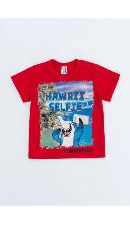 Сорочка верхняя детская для мальчиков Shels красный