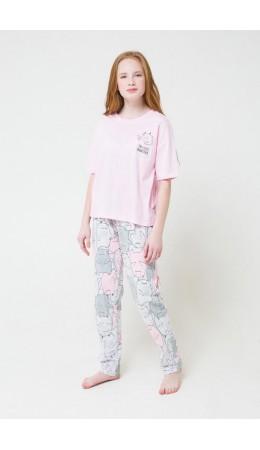 КБ 2679/нежно-розовый+монстрики на меланже комплект