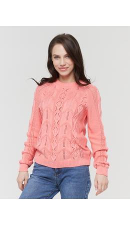 Джемпер женский BY211-40108; 7376 розовый персик