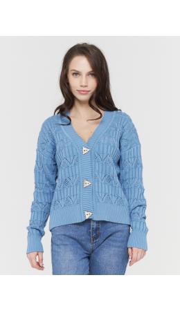 Жакет женский BY211-14041; 7377 голубой деним