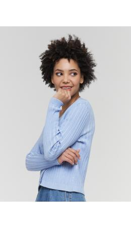Жакет женский BY211-14046; 392664/392665 хрустальный голубой/королевский голубой