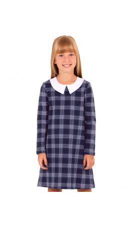 Платье ДПД338258н; клетка темно-синий+сирень+белый