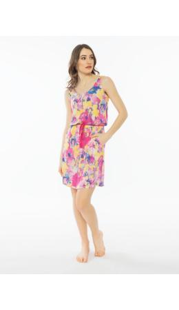 012067 0525 Платье без рукавов ОРХИДЕЯ малиновый