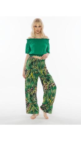 012079 2680 Комплект с брюками короткий рукав ДЖУНГЛИ зеленый