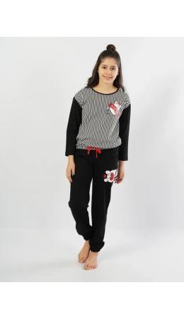 103010 8162 Комплект с брюками длинный рукав RELAX дет. черный
