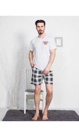 812147 2907 Комплект с шортами короткий рукав EAGLES серый