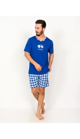 008097 2387 Комплект с шортами короткий рукав Лазурь синий