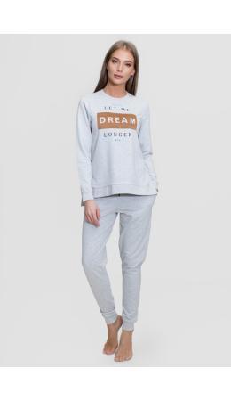 1537 Комплект с брюками длинный рукав Dream серый