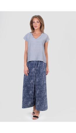 8516 Комплект с широкими брюками и блузон Сити бежевый