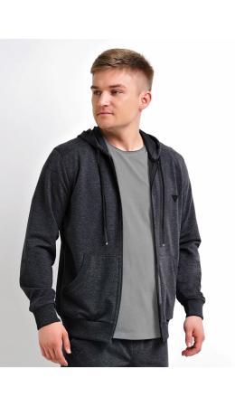 CLE Куртка муж 601251/1фэ д.р., меланж т.серый