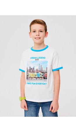 Футболка(Фуфайка) детская для мальчиков Leon белый