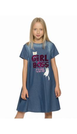 Платье для девочек Синий(41)