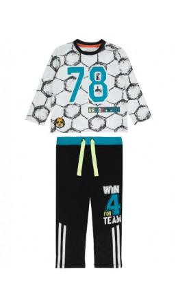 Комплект детский для мальчика ((1)джемпер и (2)брюки) Teamer  цветной