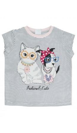 Блузка детская для девочек Aiko1 темно-синий