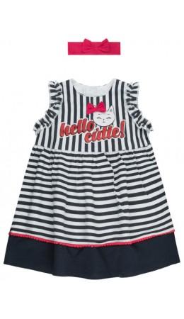 Комплект детский для девочек ((1)платье и (2)повязка на волосы) Hella цветной