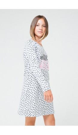 КБ 5542/серо-голуб.меланж,крапинка платье