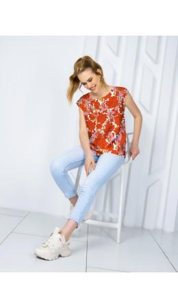 Блузка женская RED/PINK